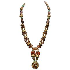 Traditional Mask Style Necklace