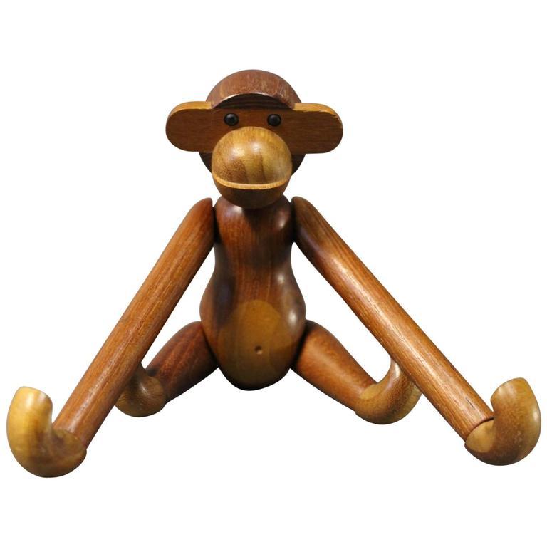Original Kay Bojesen Monkey In Teak And Limba 1953