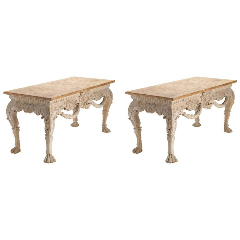 Irish lion mask console tables for sale at 1stdibs for Sofa table ireland