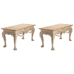 Irish Lion Mask Console Tables