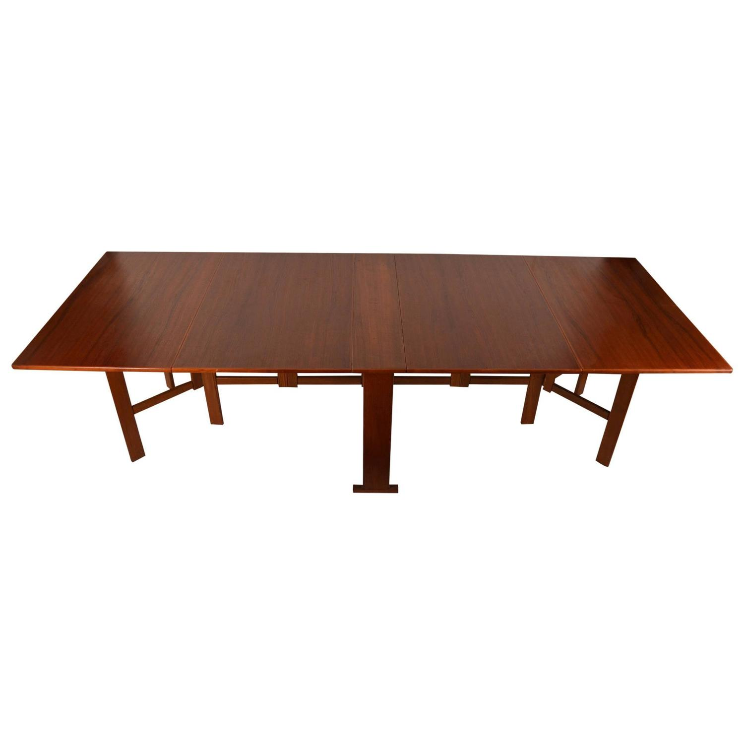 Large Extension Drop Leaf Table After Bruno Mathsson For