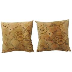 Pair of Antique Textile Arts & Crafts Pillows