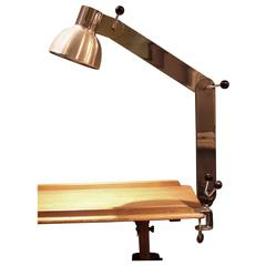 Mid-Century Modern Steel and Aluminium Articulated Arm Desk Lamp