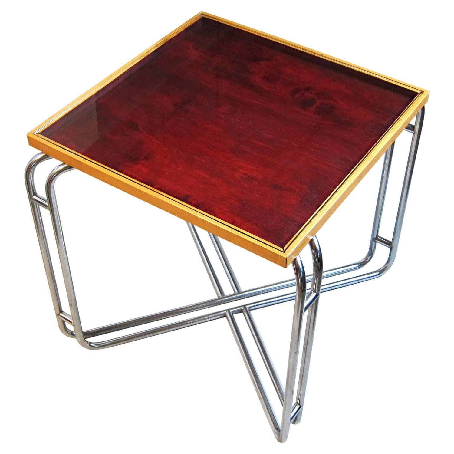 Kem Weber Style Showcase Top Coffeetable 1930s For Sale At 1stdibs