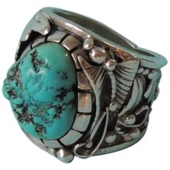 Navajo Inspired Turquoise Ring