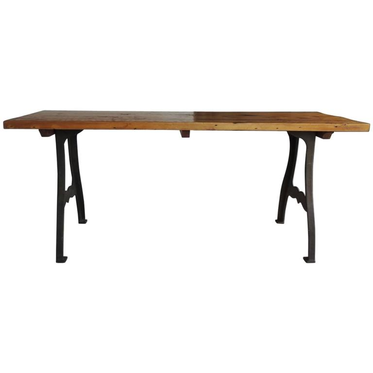 Vintage American Industrial Dining Table At 1stdibs