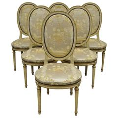 Set of 6 French Louis XVI Style Medallion Back Dining Room Side ChairsLouis XVI Style French Antique Medallion Back Chairs For Sale at  . Louis Xvi Style Furniture For Sale. Home Design Ideas