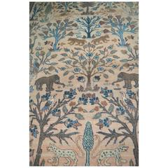"Rare Antique Persian Sultanabad ""Animal Carpet"""