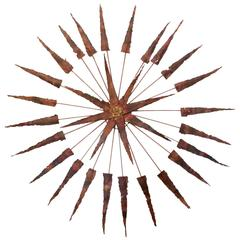 Starburst Metal Wall Sculpture
