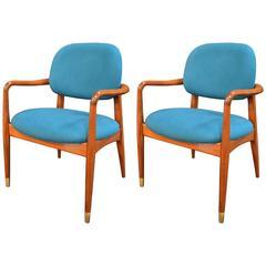 Pair of Mid-Century Modern Danish Armchairs