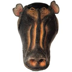 Baboon Mask Ceramic Sculpture by Ardmore From South Africa