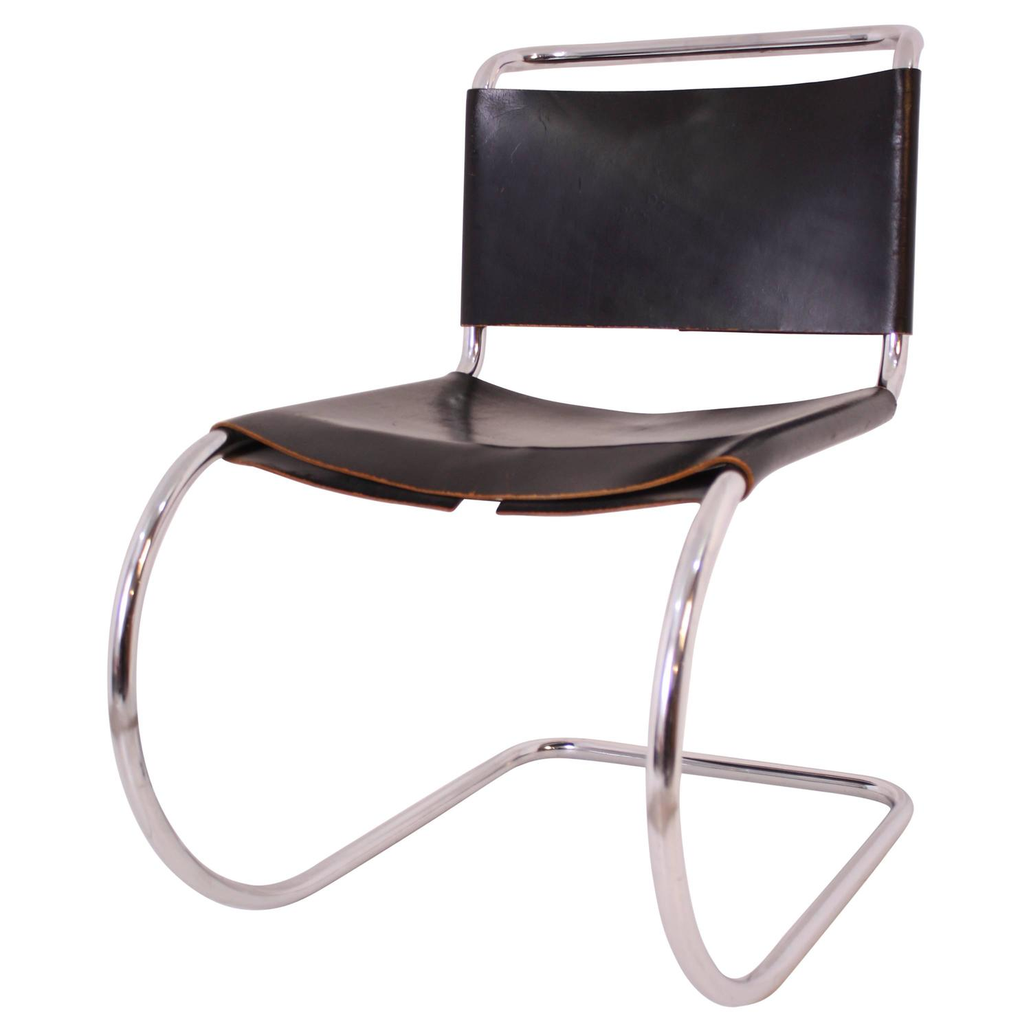 Mies van der Rohe MR10 Cantiliver Side Chair at 1stdibs