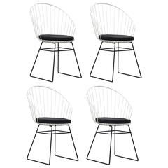 Set of four Cees Braakman Pastoe wire Flamenco chairs