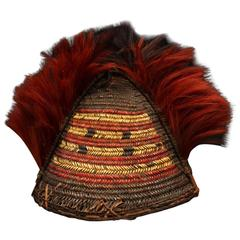 Early 20th Century Tribal Cane Warrior's Hat, Nagaland, Northeast India