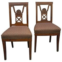 Pair of Neoclassical Jansen Side Chairs