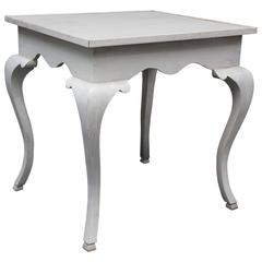 Queen Anne Style Tray Top Table in White