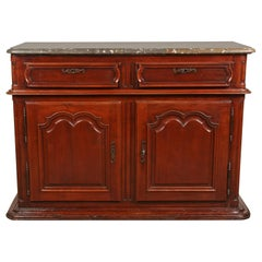 Louis XIV Sideboard with Fossil Stone Top