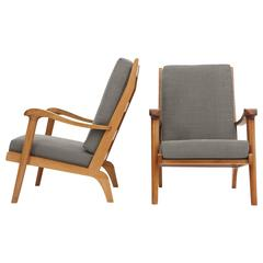 Fritz Hansen, Pair of Armchairs, circa 1950
