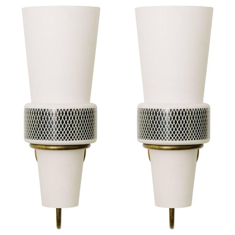 Pair of Mid-Century Sconces