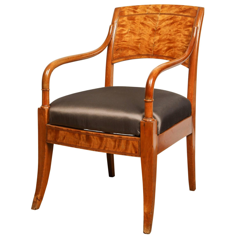 Danish Biedermeier Arm Chair For Sale At 1stdibs