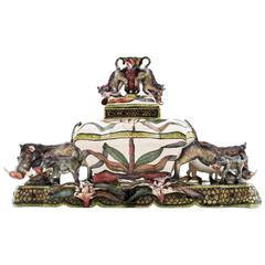 Warthog Tureen Centrepiece Ceramic Sculpture from Ardmore, South Africa