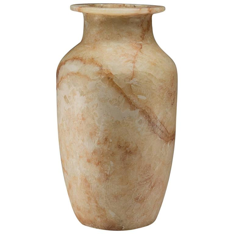 Egyptian Alabaster Vase At 1stdibs