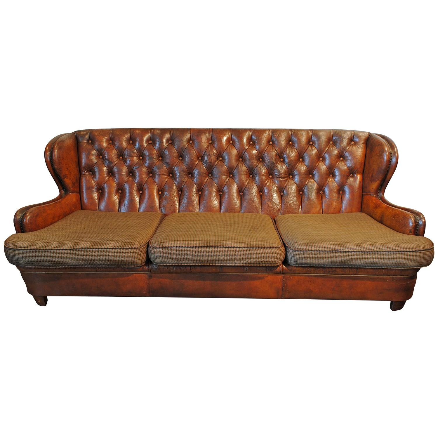 Tufted Leather Sofas For Sale Florence Knoll