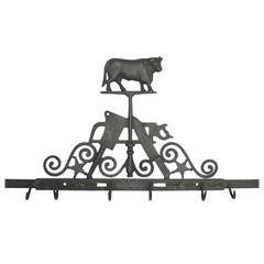 Rare Antique Cast Iron Butcher Trade Sign by Gloekler