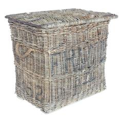 Large Antique Travel Wicker Basket/Trunk