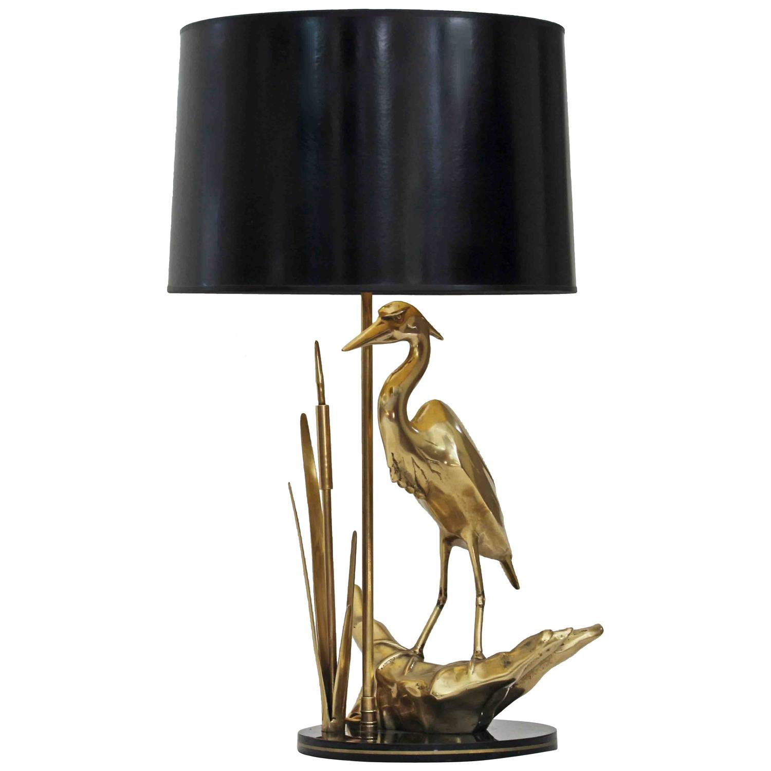 Gold bird table lamp best inspiration for table lamp brass heron bird table lamp for sale at 1stdibs mozeypictures