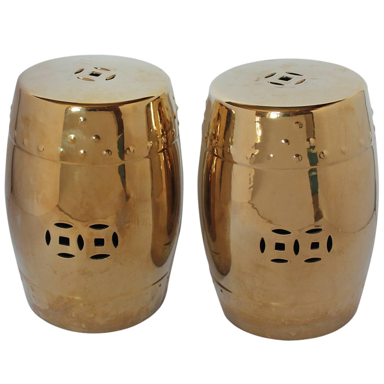 Mid-Century Chinese Garden Porcelain Stools or Drum Tables For Sale ...