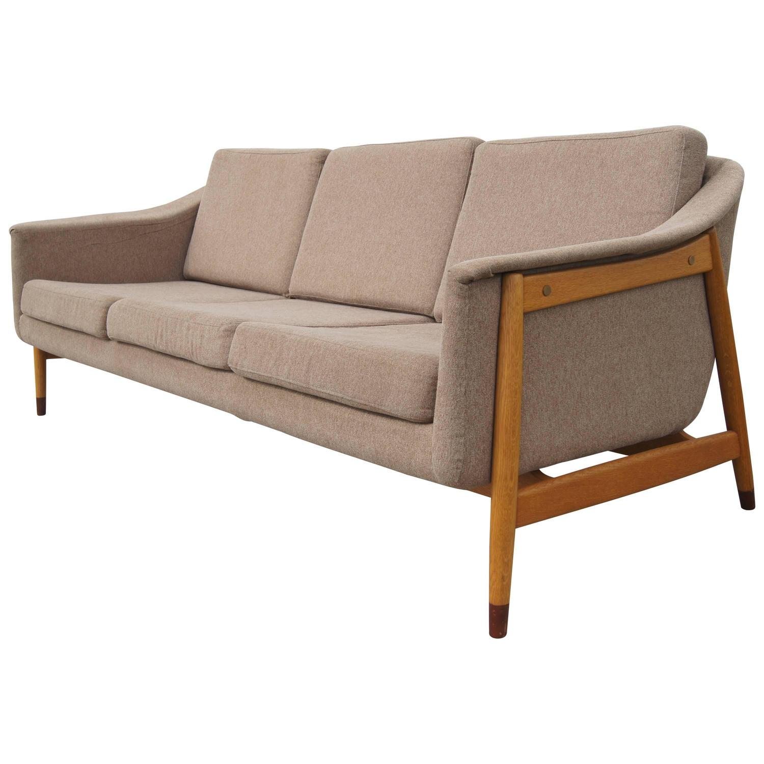 Three Seat Swedish Sofa By Folke Ohlsson For Dux At 1stdibs