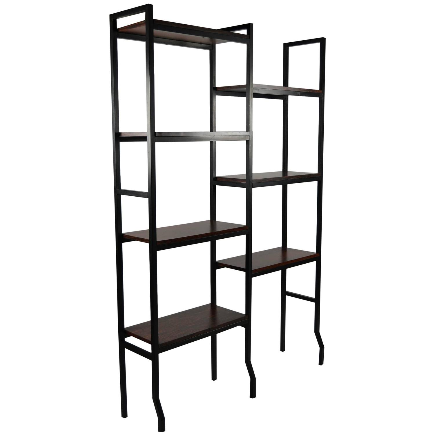 Art deco style room divider with open storage shelves at - Room divider with storage ...