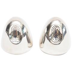 Pair of Modernist Antonio Pineda Sterling Silver Salt and Pepper Shakers