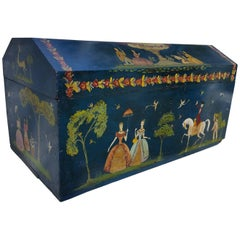 Salvador Corona Painted Blanket Chest, Mexico, circa 1940