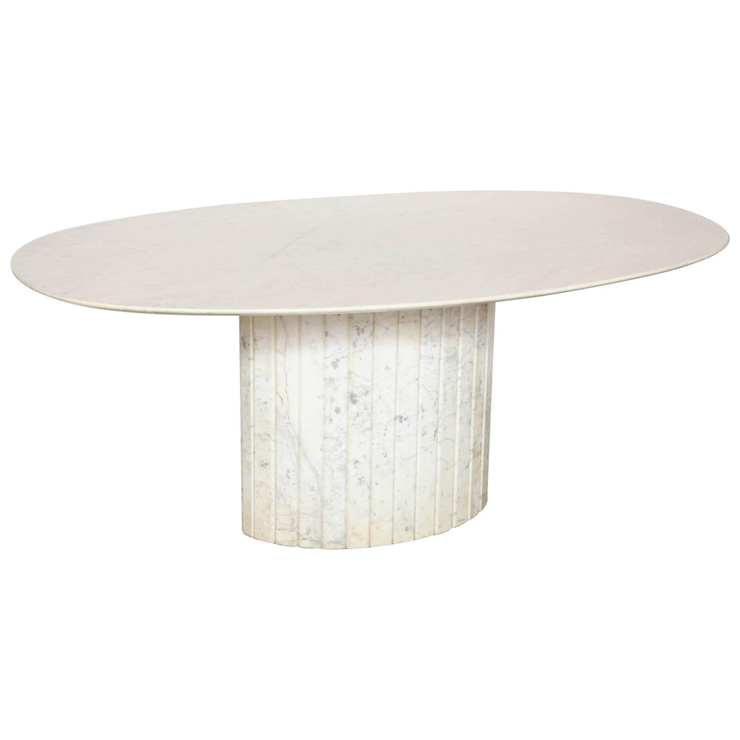 Oval Marble Dining Table At 1stdibs