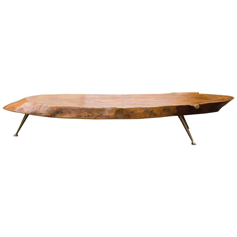 Tree Trunk Coffee Table Nakashima Style At 1stdibs