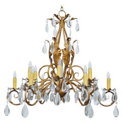 Louis XV Style Twelve-Light Teardrop Chandelier