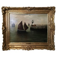 F. Wood Painting, Signed and Dated 1907