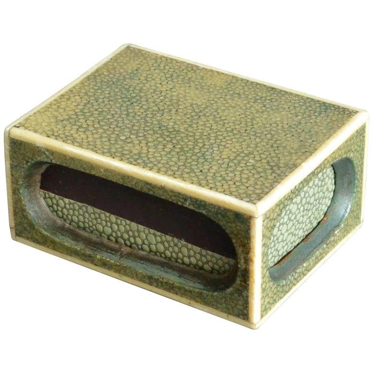 Shagreen Match Box  For Sale