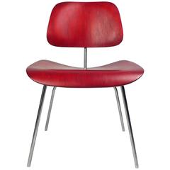 Production DCM by Charles Eames red 1950s