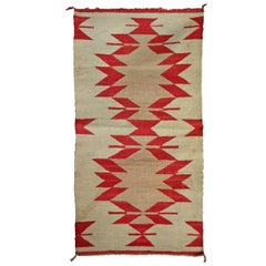 Native American Red and Cream Saddle Blanket