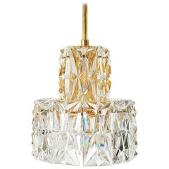 Gilded Brass and Crystal Chandelier by Palwa, 1970