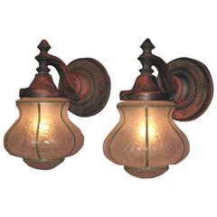 1920s Cast Iron Porch Lights