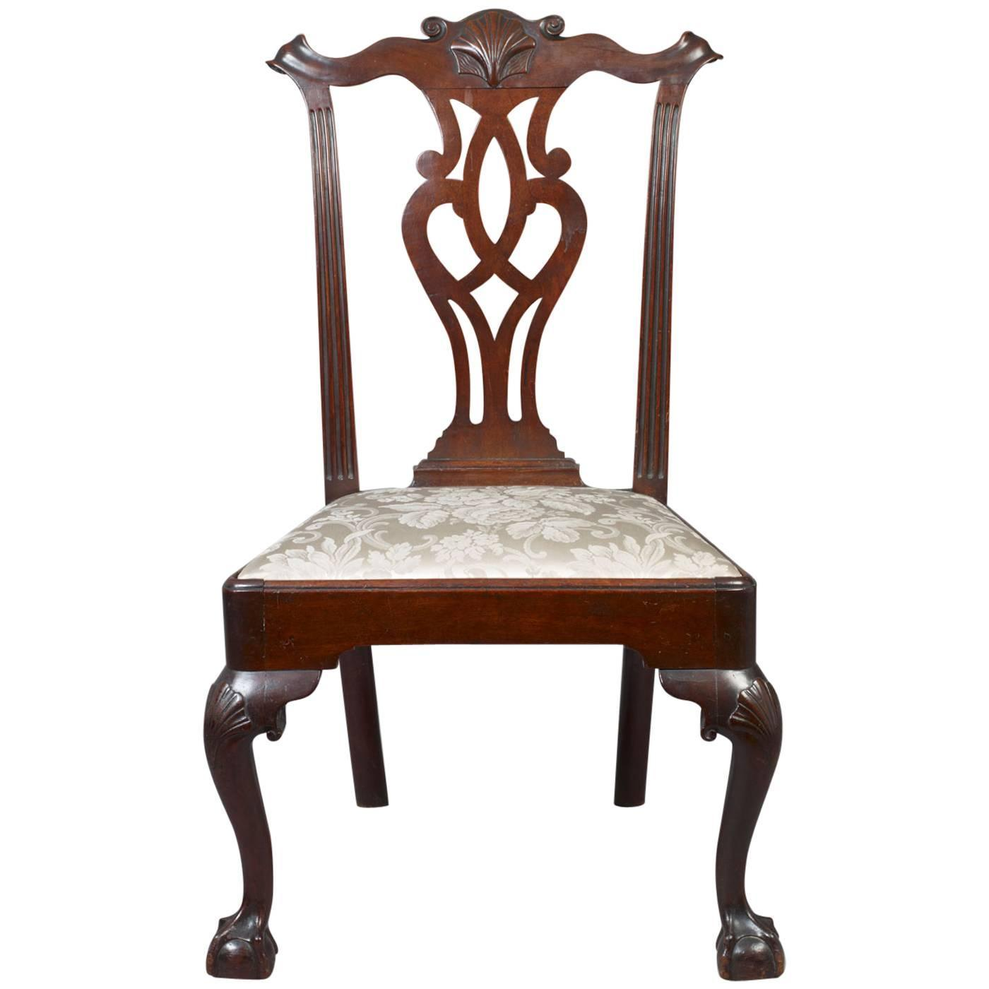 Chippendale Furniture: Chippendale Carved Side Chair At 1stdibs