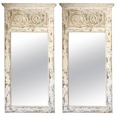 Pair of Painted Trumeau Mirrors