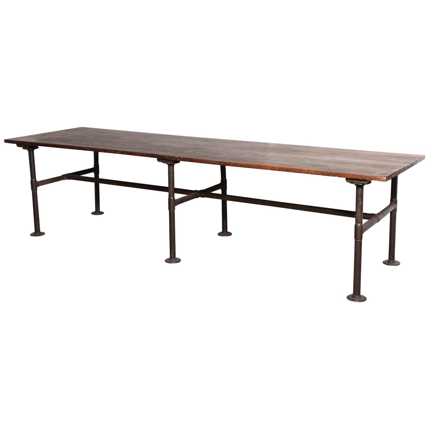 19th century 10 39 foot long solid black walnut industrial