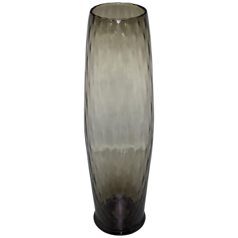 Midcentury Grey Empoli Vase