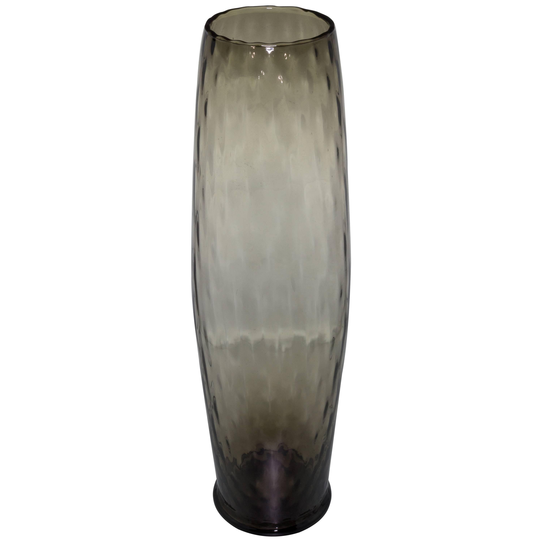 Mid Century Grey Empoli Vase
