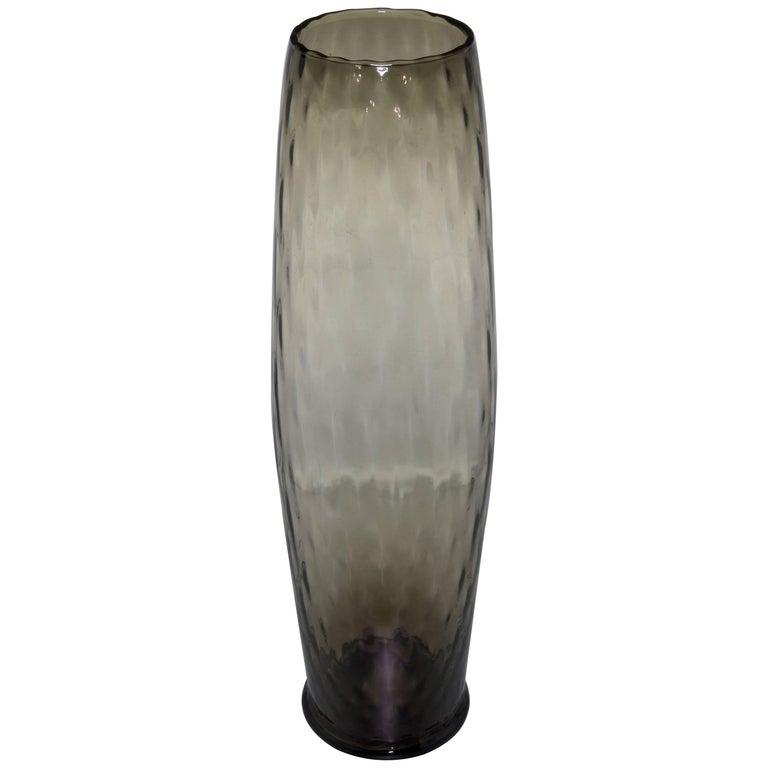 Midcentury Grey Empoli Vase For Sale